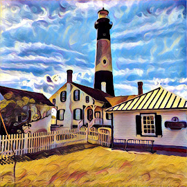 Eye Catching! by Vaquessa Sartin - Digital Art Places ( #digital art #lighthouse #historical #place #island )