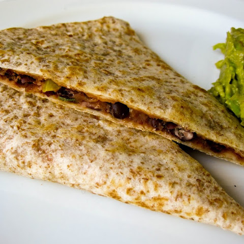 Black Bean and Pepper Quesadillas