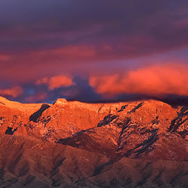 Sandia Sunset by Shawn Thomas - Landscapes Sunsets & Sunrises