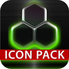 GLOW GREEN icon pack HD 3D