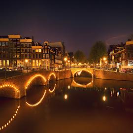 Amsterdam by Lars-Ove Törnebohm - City,  Street & Park  Night ( tornephoto, holland, nightphoto, amsterdam, netherlands )