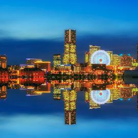 Blue Hours by Nyoman Sundra - City,  Street & Park  Amusement Parks ( night photography, amusement park, park, bluehours, yokohama, city )