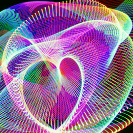 Heart of light by Jim Barton - Abstract Patterns ( heart, laser light, colorful, light design, laser design, laser, laser light show, light, heart of light, science )