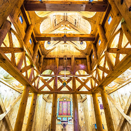 Washington Island, WI Stavkirke Temple by Andy Taber - Buildings & Architecture Places of Worship