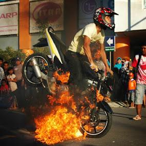 on fire by Assoka Andrya - Sports & Fitness Motorsports