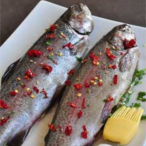 Abkhazian Trout with Cilantro Sauce