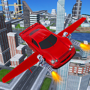 Download Futuristic Flying Muscle Car Shooting Simulator 3D for PC