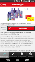 Screenshot of Kruidvat mobiele app