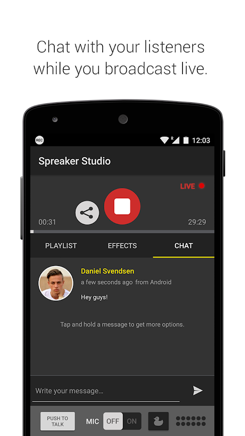 Spreaker Studio Screenshot 2
