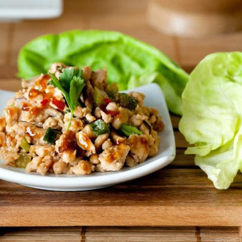 Peanut Chicken Lettuce Wraps