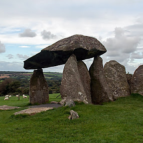 Pentre Ifan Burial Chamber by Andro Andrejevic - Novices Only Landscapes ( uk, prehistoric, ancient, wales, burial chamber, pentre ifan, monument, dolmen )