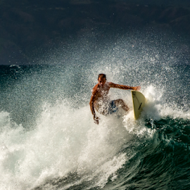 Maui Surfer  by Keith Sutherland - Sports & Fitness Surfing ( maui, surfer, wave, hawaii )