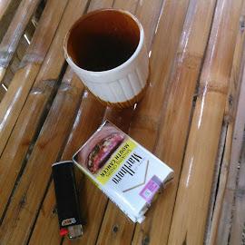 My Breakfast by Florante Lamando - Artistic Objects Cups, Plates & Utensils