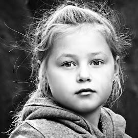 Mianca by Pieter J de Villiers - Black & White Portraits & People