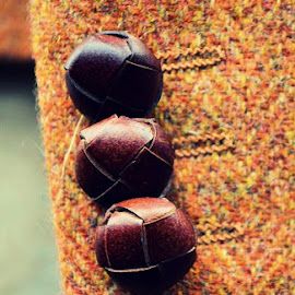Buttons by Heather Aplin - Artistic Objects Clothing & Accessories ( jacket, tweed, buttons, buttonhole, country, gentleman )