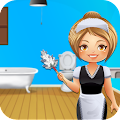cute girl cleaning bathroom APK Descargar