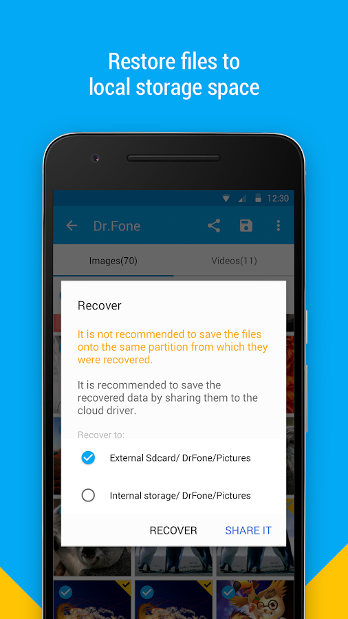 Dr.Fone - Recover deleted data Screenshot 6
