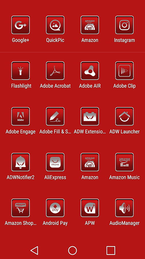 oNe1 Red - Icon Pack Screenshot 1