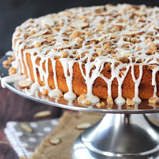 Toffee Almond Streusel Coffee Cake