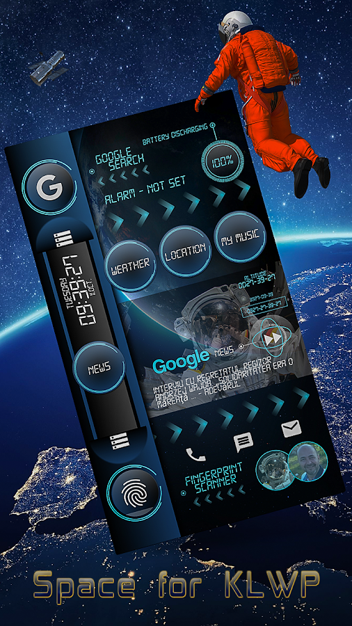Space Blue for KLWP Screenshot 3