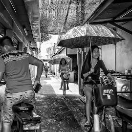 everybody cycling by Wak Li - City,  Street & Park  Street Scenes (  )