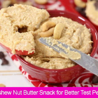 Honey Cashew Nut Butter Snack for Better Test Performance