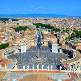 from Cupola ... Vatican City by Lim Khwang Thong - City,  Street & Park  Skylines ( skyline, cupola, vatican )