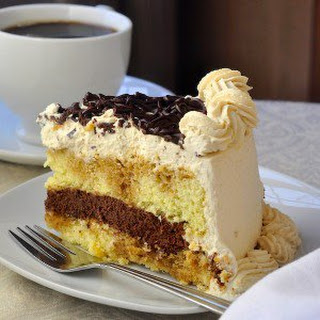 Chocolate Filled Kahlua Tiramisu Cake