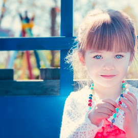 Beauty  by Jenny Hammer - Babies & Children Children Candids ( child, girl, beautiful, blue eyes, candid, portrait,  )