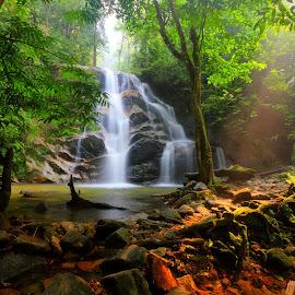 Hutan Lipur Sg.Kanching by Khairul Azhar Abu Bakar - Landscapes Forests ( waterfall.hutan lipur sg.kanching.selangor. )