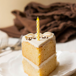 Vegan Vanilla Birthday Cake!