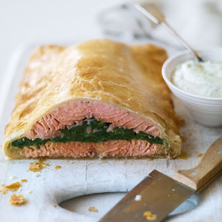 Salmon En Croute Puff Pastry Spinach Recipes