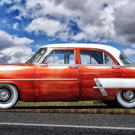 American Car by Ana Paula Filipe - Transportation Automobiles ( car, old, red, american, classic,  )