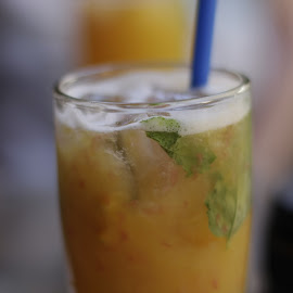 Summer freshness by Roxana Zlampareț - Food & Drink Alcohol & Drinks ( cold, straw, drink, mint, oranges )