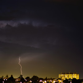 Thor by Sorin Rizu - Landscapes Weather ( clouds, thunder, lightning, thunderstorm, night, storm, rain, city )
