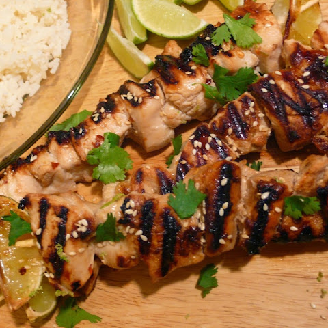 Honey-Lime Chicken Skewe