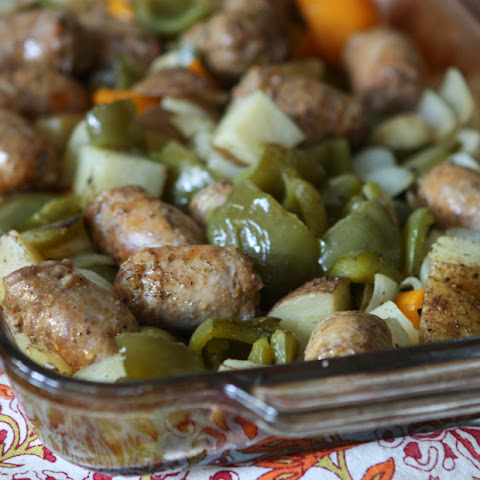 Roasted Italian Turkey Sausage, Potatoes and Peppers