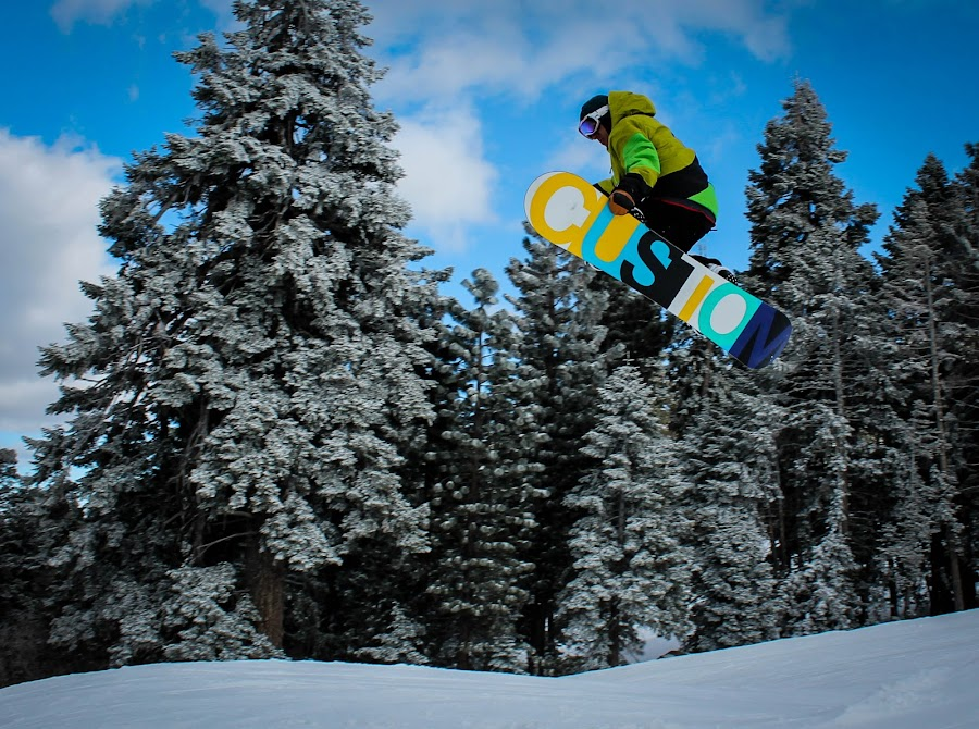 Rail Grab by Jay Woolwine Photography - Sports & Fitness Snow Sports ( snowboard, ski, snow summit, action )