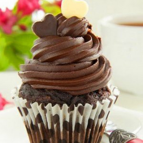 Chocolate Cupcakes With Chocolate Cream.