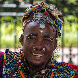 Street Entertainer Capetown SA by Bonnie Forman-Franco - People Body Art/Tattoos ( face, body piercing, face tattoos, street  entertainer,  )