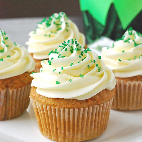 Carrot Cupcakes with Cream-Cheese Frosting