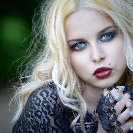 Portrait by Cvetka Zavernik - People Portraits of Women ( beautiful, blond, blue eyes, women, portrait )