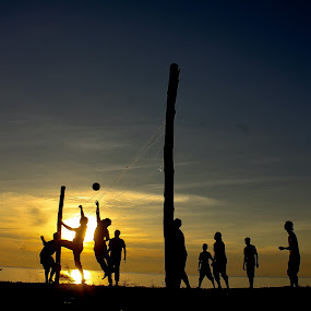 beach volleyball sunset at Tioman Island Malaysia by Raz Adyza - Sports & Fitness Other Sports