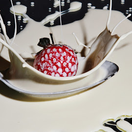 Splashing Strawberry by Peter Salmon - Food & Drink Fruits & Vegetables