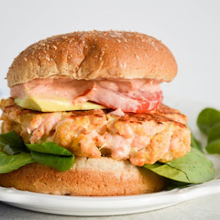 Salmon Burgers with Sriracha Mayo