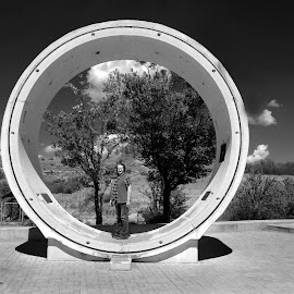 Katse Dam Pipe by Brian McDonald - Black & White Objects & Still Life ( pipe )