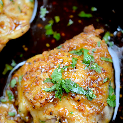 Caramelized Baked Chicken Thighs