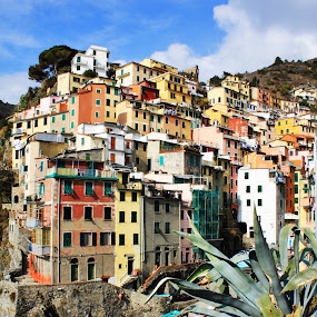 Lovely Colours by Photo Creations - City,  Street & Park  Vistas ( village, beautiful, buildings, sea, landscape, italy, colours )