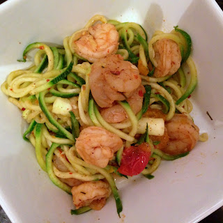 Whole #FoodieFriday | Spicy Shrimp Paleo Pasta