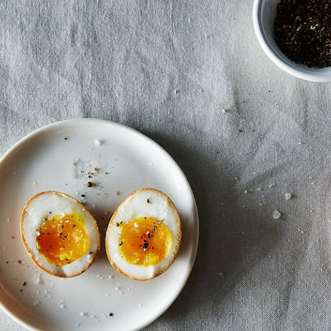 Soy Sauce Eggs, With Miso Soba Noodles